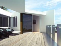 балкон с террасой в загородном доме