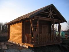 Строительство бани из бревна